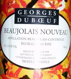 Georges Dubeuf Beaujolais Nouveau 2008