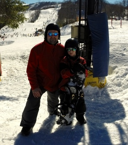 Aiden and I Snowboarding